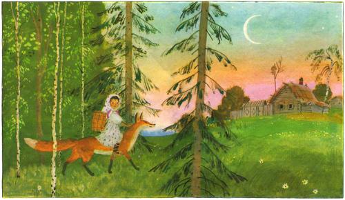 снегурушка и лиса русская народная сказка слушать