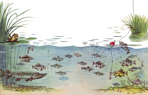 любитель рыболов детские рисунки