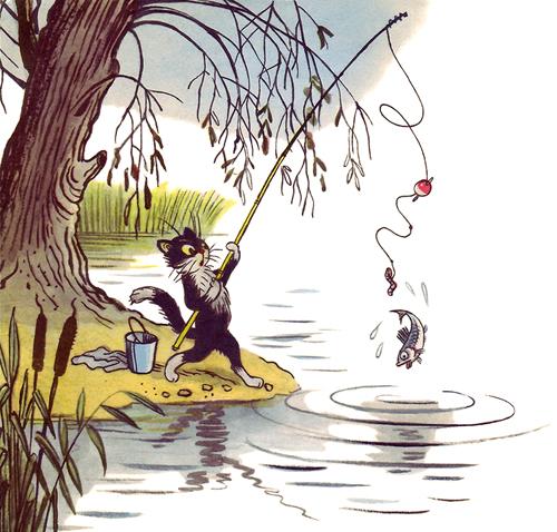 рассказ в духе вася ловил рыбу н.калинина
